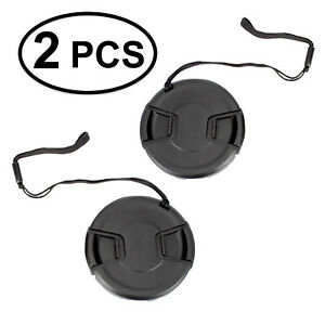 2pcs-77mm-Center-Pinch-Snap-On-Lens-Cap-with-Leash-Canon-Nikon-Sony-DSLR-Camera