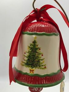 Details About Large Whimsy Dol Christmas Tree Holiday Ceramic Bell Ornament Decoration