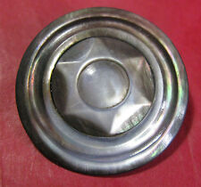 ONE LOVELY X LARGE VICTORIAN CARVED 2 PIECE SHELL BUTTON 3.5 CMS DIAM