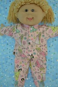 PlaynWear-Dolls-Clothes-For-16-034-Cabbage-Patch-PJ-039-S-FLANNELETTE-PANTS-TOP-BOOTIES