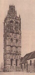 G2318-France-Verneuil-La-Tour-de-la-Madeleine-Stampa-d-039-epoca-1930-print