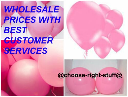 "WHOLESALE 10/"" Latex Plain Balloons 100-5000 Mix Colour For Mothers Day Birthdays"