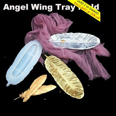 Epoxy Resin Casting Molds Coaster Mold Angel Wing Tray Jewelry Making Mould