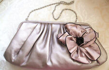 BNWT Primark Nude Blush Pink Black Rosette Corsage Clutch Shoulder Bag Handbag