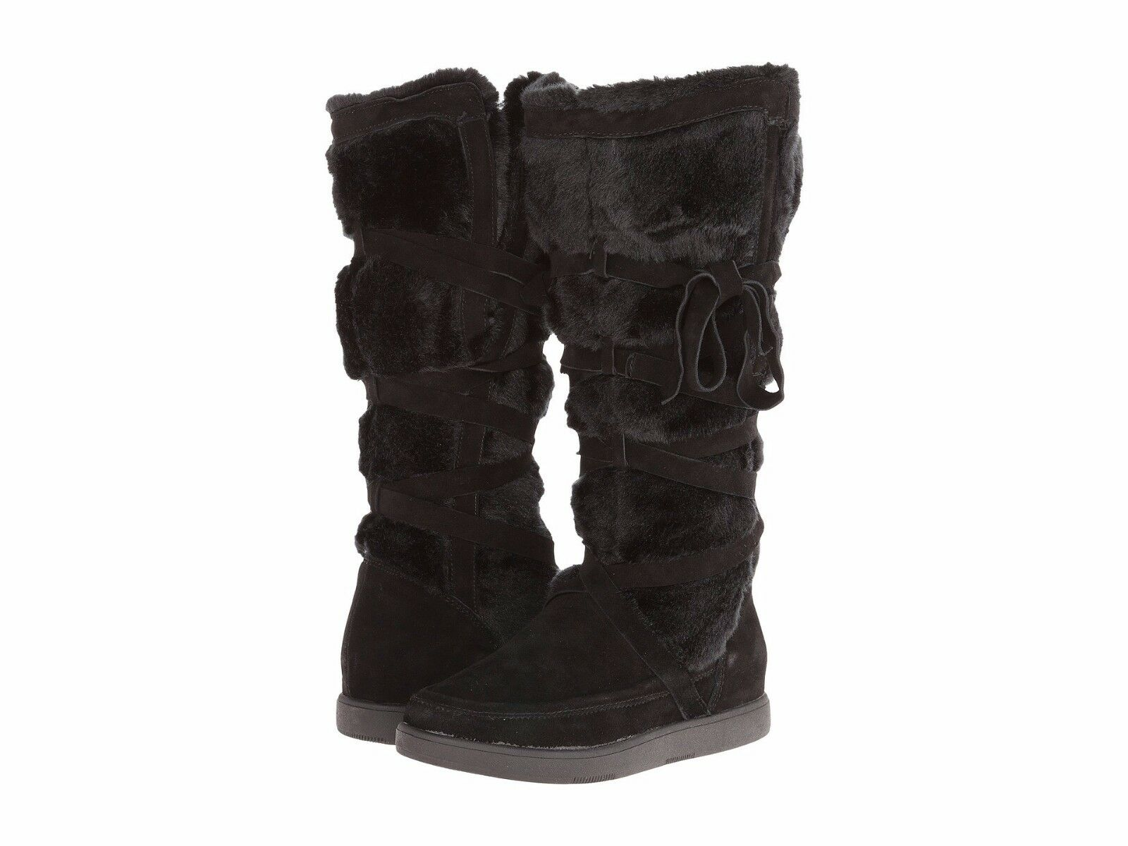 Report Signature Lorrian Womens Black Fashion Knee-high Boots Size 8