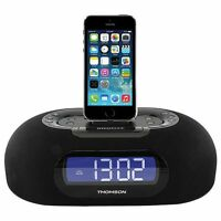 Thomson Clock Radio With Lightning Dock Usb Charge Port And Dual Alarm Id35