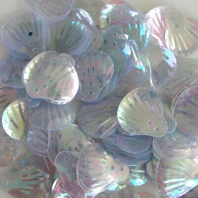 20mm Paillettes Flat 100 pieces Loose Blue Cast Sequins Crystal Iris