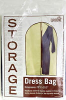 Storage Dress Bag Breathable Non Woven See Thry Vinyl Window Dresses Gowns