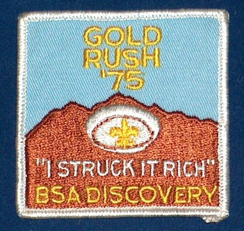 NEW OLD STOCK 1975 GOLD RUSH BSA BOY SCOUTS OF AMERICA RICH PATCH FREE SHIP USA