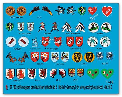1/48 Decals Stagione Cappotto Delle Armi Tedesche Aviazione Militare No 2 750