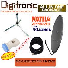 """30/""""x34/"""" Oval Ku Band Satellite Dish Antenna w// Single LNB"""