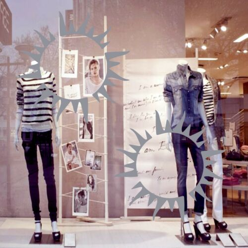 2 Large SUN Shop Window Sign Decals Vinyl Wall Stickers Sunbed Tanning Salon 40