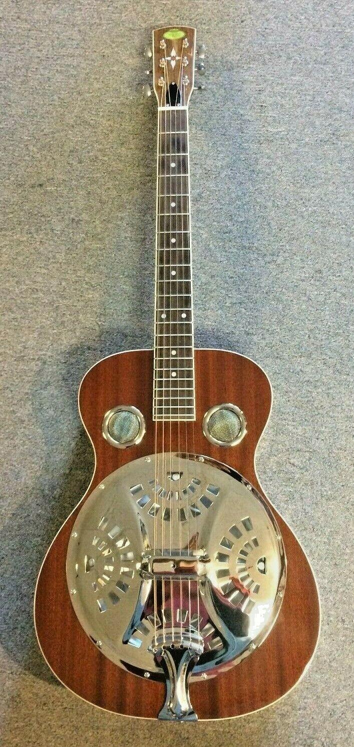 Regal RD-40T Round Neck Resonator Gitarre mit Gehäuse