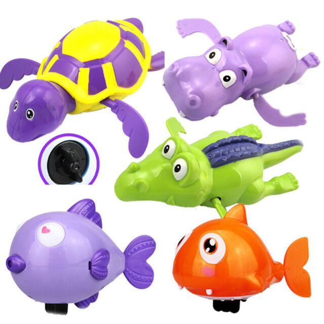 Wind-up Swimming Turtle Tortoise Pool Toys For Baby Kids Bath Bathtub Time Set