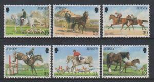 Jersey-1996-Pferde-Set-MNH-Sg-758-63