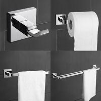 4pcs Modern Brass Chrome Bathroom Hardware Accessory Set Towel Bar Hook Holder
