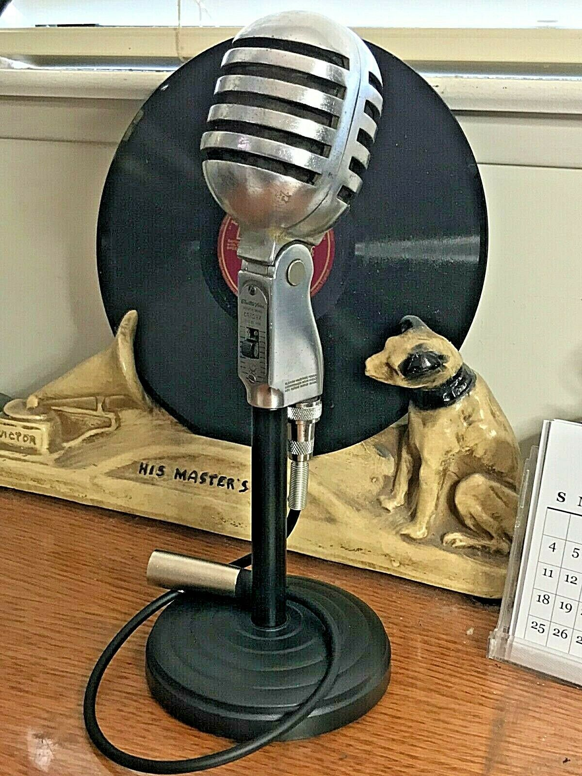 Vintage 1950's Electro Voice 950 Cardax Microphone w  stand & cable-working