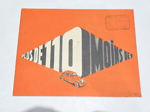 Paperwork-Automobile-Brochure-Eight-Simca-8-plus-from-110-minus-of-9