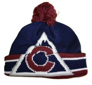 fe22f24fbff CCM Team Classics NHL Colorado Avalanche Cuffed Pom Beanie Toque Hat ...