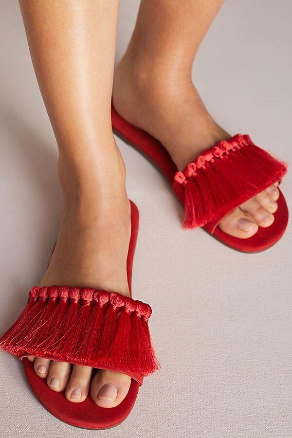 Schutz Schutz Schutz Maduna Tassel Slide Sandals Dimensione  6 bd51d5