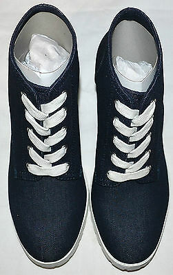 Señoras M&S Limited Edition Botas al tobillo con Cordones de-Insolia Talla 3 1/2 Denim BNWT