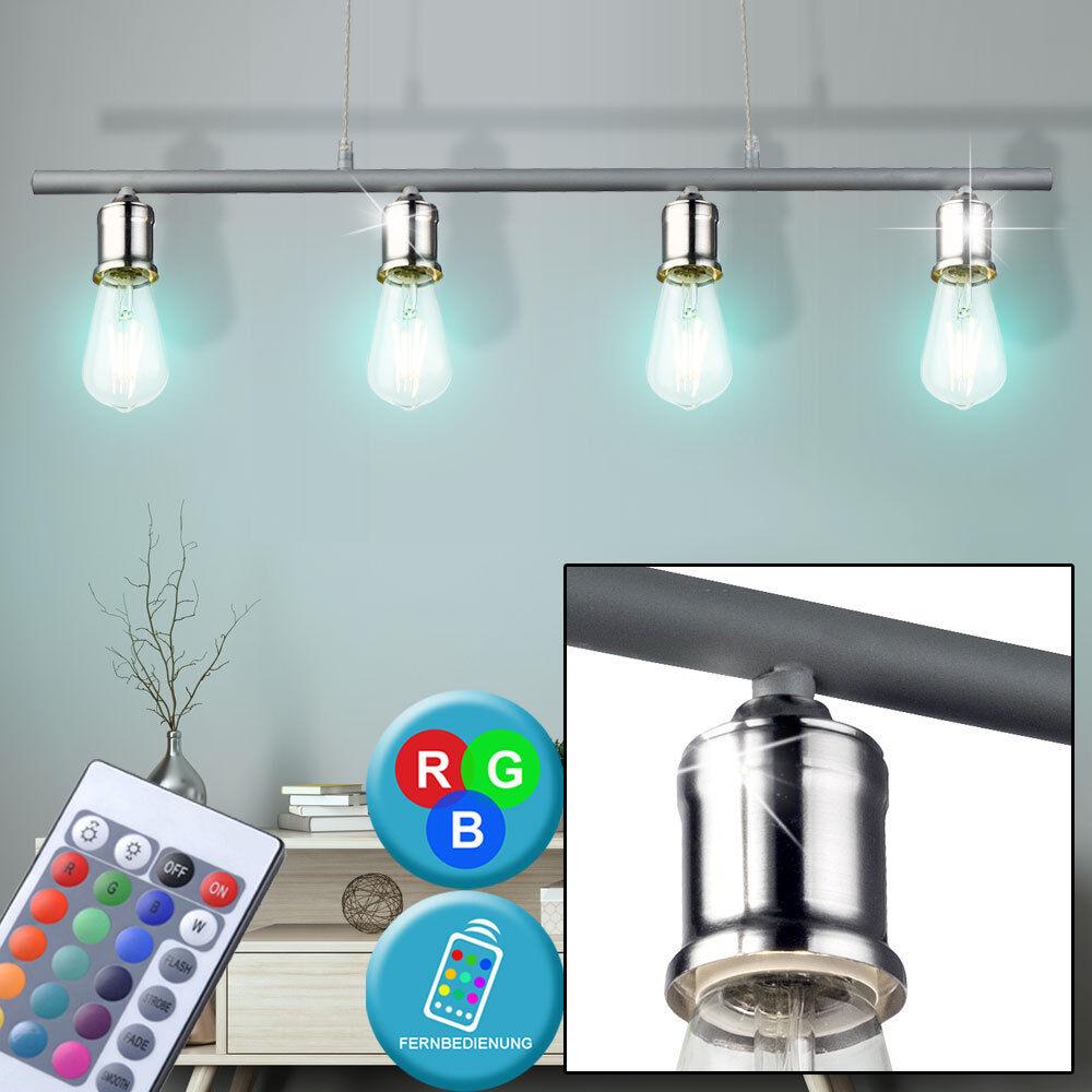 Rgb LED Luz Colgante De Techo Retro Lámpara Salón Dimmer Control Remoto Nuevo