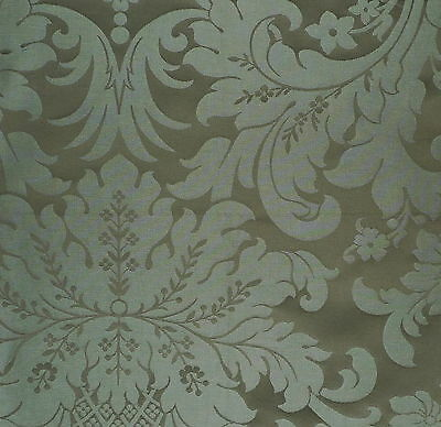 CLARENCE HOUSE Balmoral Damask Taupe cotton  Remnant New