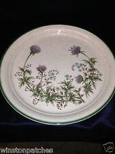 "ARKLOW IRELAND THISTLEDOWN 10.5"" DINNER PLATE #8157 PURPLE BLUE FLOWERS GREEN TR"