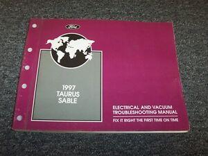 1997 ford taurus electrical wiring  u0026 vacuum diagram manual