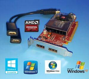 Low-Profile Dual VGA Monitor Video Card Genuine Dell OptiPlex 760 780 380 755