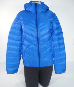 2e479620d35b Nike Cascade Zip Front Blue 550 Fill Down Quilted Hooded Jacket ...