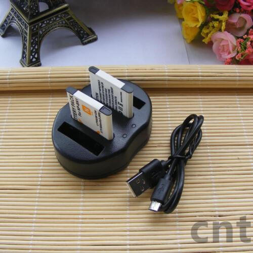 2 xBattery + Cargador Usb Doble Para Sony NP-BN1, DSC-W610, W650, W690, W800, W810, W830