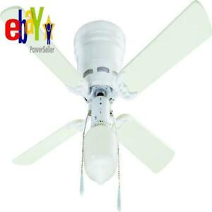 42 Quot Mainstays Hugger Indoor Ceiling Fan With Light White W 883910000953 Ebay