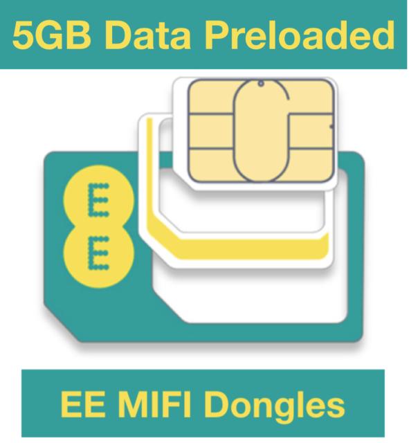 EE 4G Mobile Broadband PAYG Multi Sim, Preloaded 5GB Data, Start When You Use