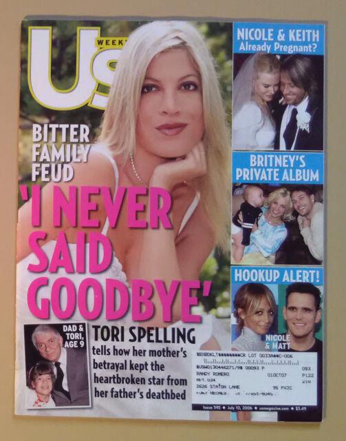 Us Weekly Magazine ~July 10 2006 ~Tori Spelling ~Nicole ...