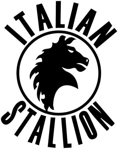 "Italian Stallion Rocky Boxing Italy Logo Car Wall Decal Sticker 6/""X4.7"" Black"