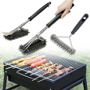 BBQ-Cleaning-Grill-Brush-Scrubber-Barbecue-Stainless-Steel-Kitchen-Wire-Brush-1X