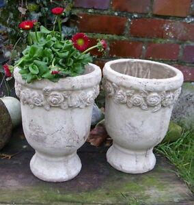 2er set blumentopf rose terrakotta landhausstil for Terracotta gartendeko