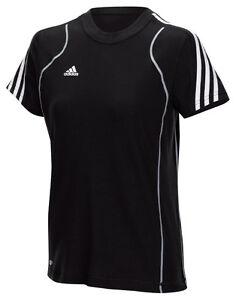 adidas-Damen-T-Shirt-schwarz-Laufshirt-Sportshirt-Fitness-Gr-XS