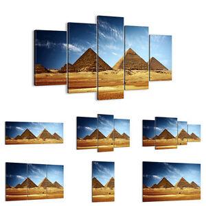 Cuadro en lienzo 30 Modelos Pirámide desierto arena 0211 ES
