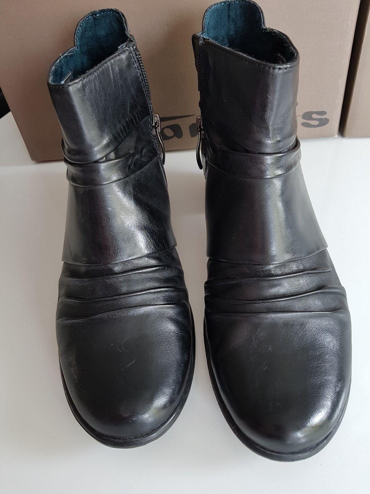 Tamaris Damen Damen Tamaris Schuhe Stiefeletten schwarz Anti shokk 38 wie NEU 9def64