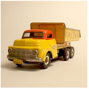 1950s Sombrero camión Vintage Juguete de hojalata Nomura Nikko Nippon Japón FS EMS Express