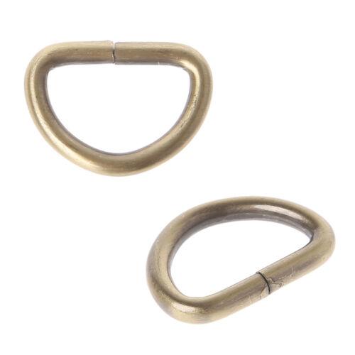 10PCS Metal D Ring Belt Buckle Clasp for Backpack Handbag Purse Strap DIY Crafts