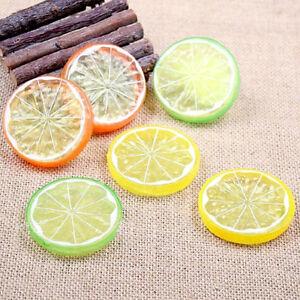 10PCS-Decorative-Artificial-Plastic-Lemon-Slice-Home-Decor-Fake-Fruit-CY1