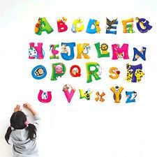 26Animals Alphabet Wall decal Removable stickers educational decor kids nursrSM