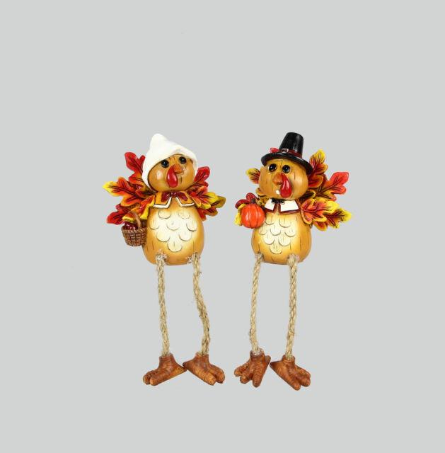 Pilgrim Turkey Shelf Sitter 2pc Youngs Fall Decor Mr and Mrs