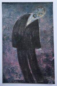 Petite-Peinture-Gouache-Fusain-Homme-Costume-PIERRE-HENRI-BOUSSARD-Sard-5
