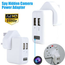 1080P HD Spy Hidden Camera Real AC power Adapter Motion Detection Plug Record UK