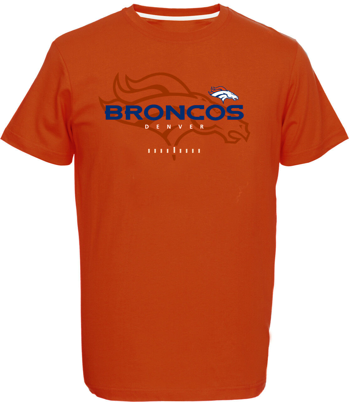 NFL Football Denver Broncos T-Shirt T-Shirt T-Shirt Tee Great Value Logo Orange 94ffa8