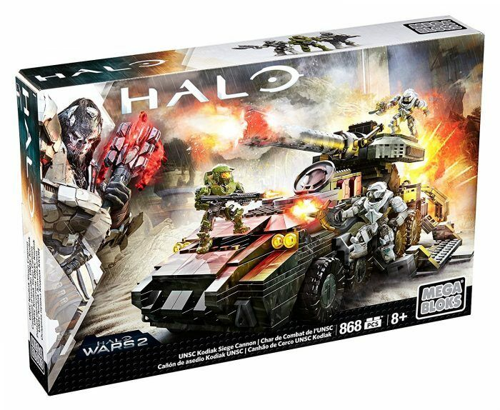 Halo wars 2-mega bloks dpj94 spielzeug - unsc kodiak belagerung kanone 868 stück abbildung p...